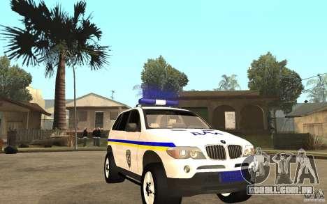 BMW X5 DAÌ para GTA San Andreas vista traseira