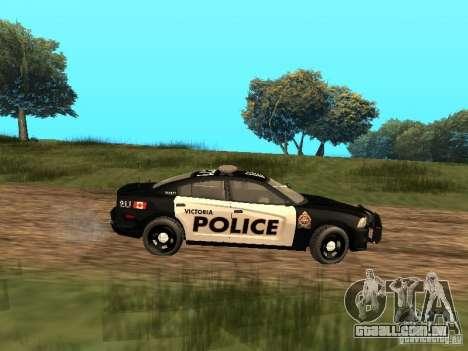 Dodge Charger Canadian Victoria Police 2011 para GTA San Andreas traseira esquerda vista