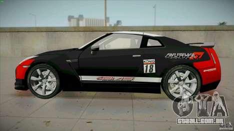 Nissan GT-R  AMS Alpha 12 para GTA San Andreas esquerda vista
