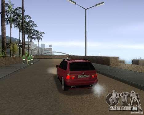 BMW X5 Sport Tun para GTA San Andreas traseira esquerda vista