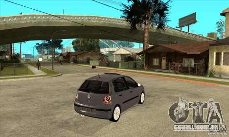 Volkswagen Polo 2008 para GTA San Andreas vista direita