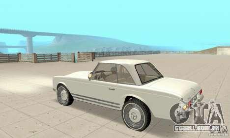 Mercedes-Benz 280SL (brilhante) para GTA San Andreas vista traseira