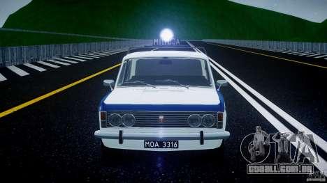 Fiat 125p Polski Milicja para GTA 4 vista inferior