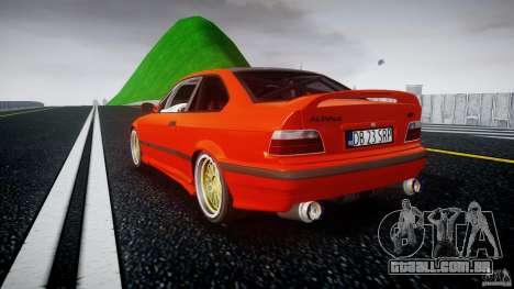BMW E36 Alpina B8 para GTA 4 traseira esquerda vista