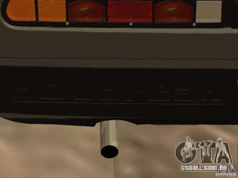 DeLorean DMC-12 para GTA San Andreas vista interior