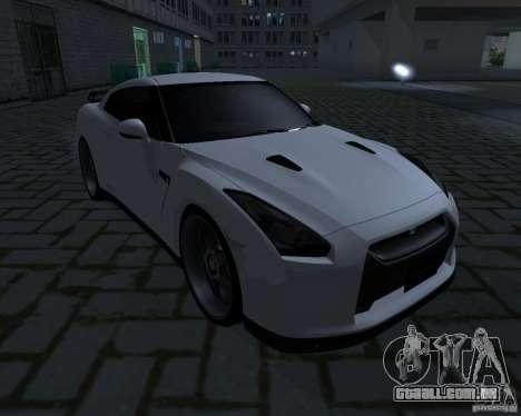 Nissan GTR-35 Spec-V para GTA San Andreas traseira esquerda vista