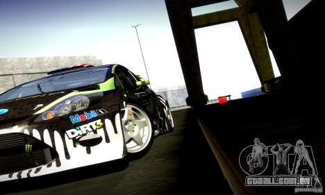 Ford Fiesta Gymkhana 4 para GTA San Andreas vista interior