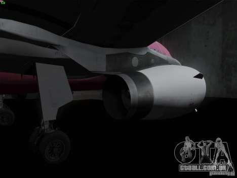 Airbus A319 Spirit of T-Mobile para GTA San Andreas vista traseira