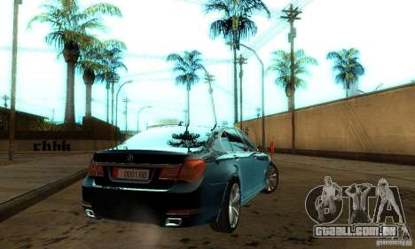 BMW 750Li para GTA San Andreas vista interior