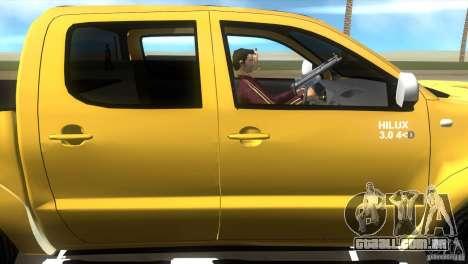Toyota Hilux SRV 4x4 para GTA Vice City vista traseira