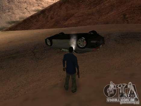 Não queimam carros tombados para GTA San Andreas sexta tela