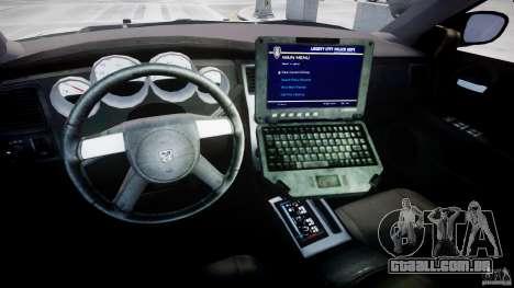 Dodge Charger FBI Police para GTA 4 vista de volta