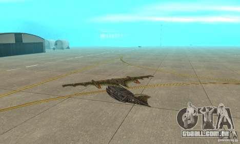 Belo avião de TimeShift para GTA San Andreas vista direita