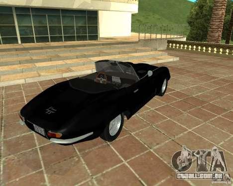Jaguar E-Type 1963 para GTA San Andreas traseira esquerda vista