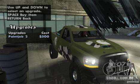 Dodge Power Wagon Paintjobs Pack 1 para GTA San Andreas vista direita