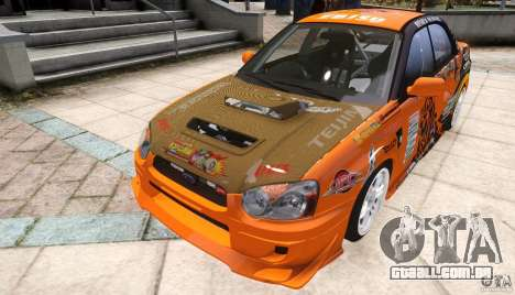 Subaru Impreza WRX STi GDB Team Orange para GTA 4 vista direita