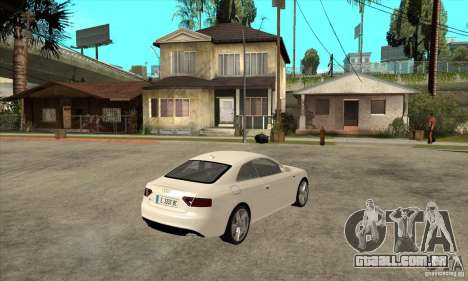 Audi S5 2008 para GTA San Andreas vista direita