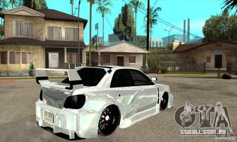 Subaru Impreza Tunned para GTA San Andreas vista direita