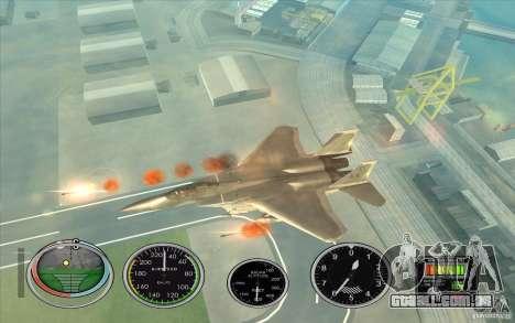 Rápido lançamento de foguete a Hydra e Hunter para GTA San Andreas