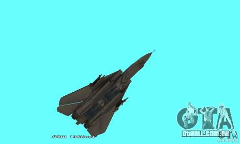 F14W Super Weirdest Tomcat Skin 1 para GTA San Andreas vista inferior