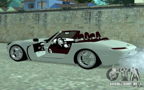 BMW Z8 para GTA San Andreas esquerda vista