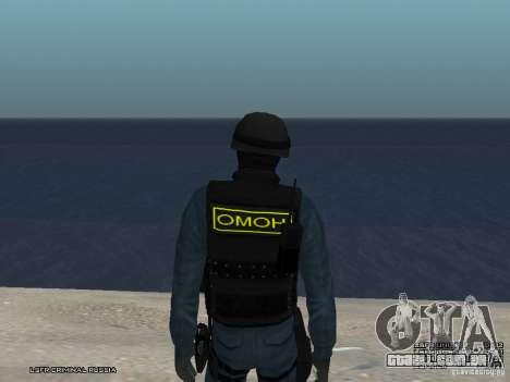 MOTIM policial para GTA San Andreas quinto tela
