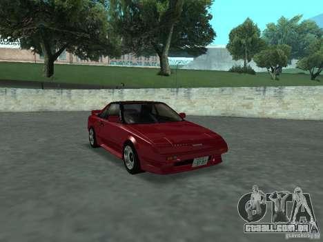 Toyota MR2 para GTA San Andreas vista direita