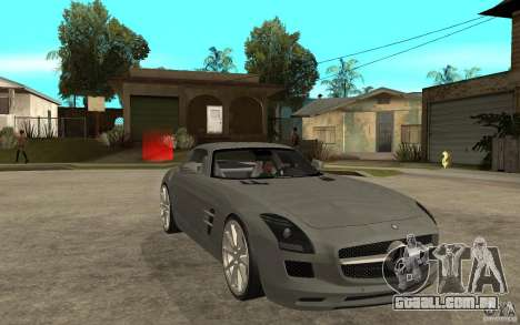 Mercedes-Benz SLS para GTA San Andreas vista traseira