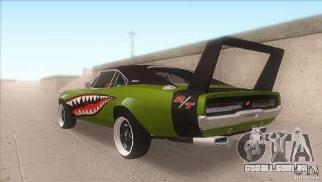 Dodge Charger RT SharkWide para GTA San Andreas traseira esquerda vista
