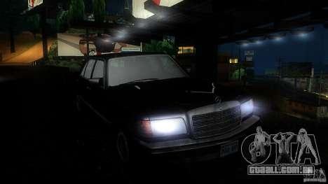 Mercedes Benz 560SEL w126 1990 v1.0 para GTA San Andreas vista interior
