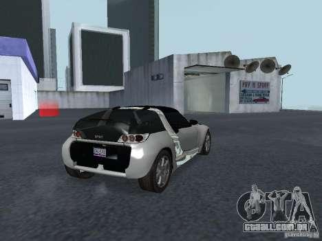 Smart Roadster Coupe para GTA San Andreas traseira esquerda vista