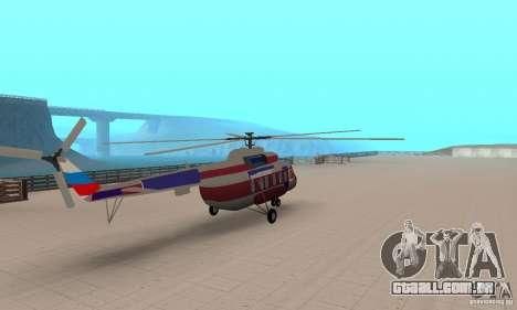 MI-17 civis (inglês) para GTA San Andreas esquerda vista