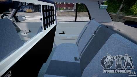 Ford Crown Victoria SFPD K9 Unit [ELS] para GTA 4 vista de volta