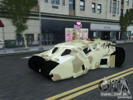 HQ Batman Tumbler para GTA 4 traseira esquerda vista