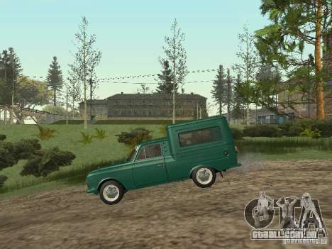 IZH 2715 para GTA San Andreas traseira esquerda vista