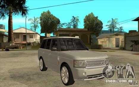 Land Rover Range Rover Supercharged 2009 para GTA San Andreas vista traseira