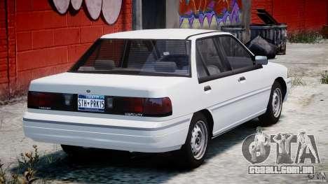 Mercury Tracer 1993 v1.0 para GTA 4 vista superior