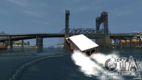 Ambulance boat para GTA 4 vista superior