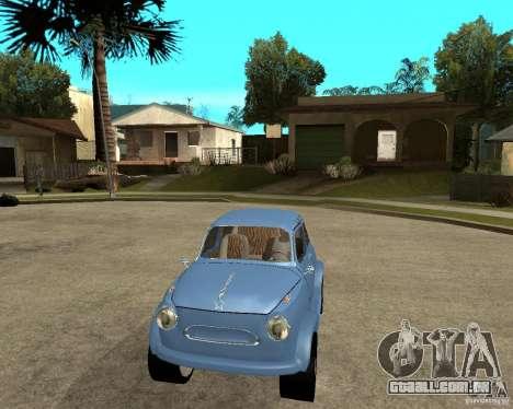 HotRod de 965 Zaporozhets ZAZ para GTA San Andreas vista traseira