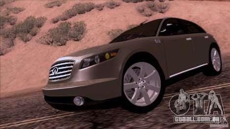 Infiniti FX45 2007 para GTA San Andreas traseira esquerda vista