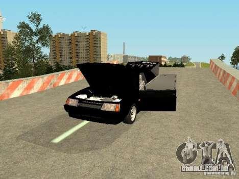 VAZ 2109 para GTA San Andreas vista traseira