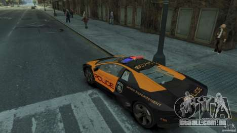 Lamborghini Reventon Police Hot Pursuit para GTA 4 vista direita