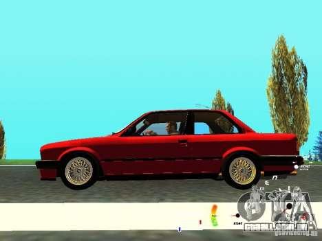 BMW E30 87-91 para GTA San Andreas vista interior