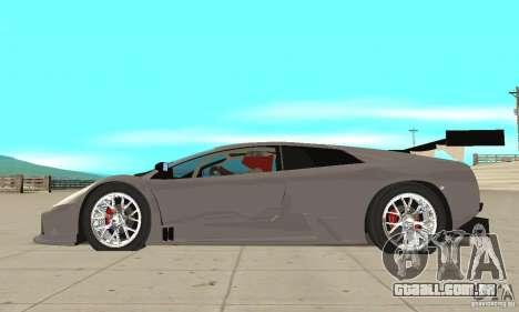 Lamborghini Murcielago R GT para GTA San Andreas esquerda vista