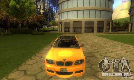 BMW 135i Coupe Custom para GTA San Andreas vista interior