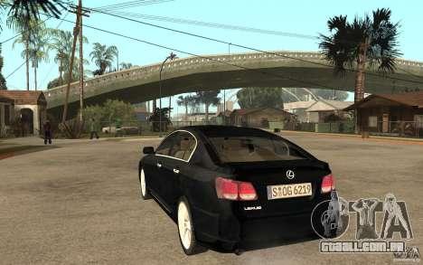 Lexus GS430 2007 para GTA San Andreas traseira esquerda vista