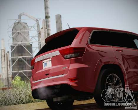 Jeep Grand Cherokee SRT-8 2012 para vista lateral GTA San Andreas