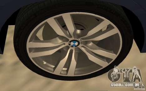 BMW X5 M 2009 para GTA San Andreas vista direita