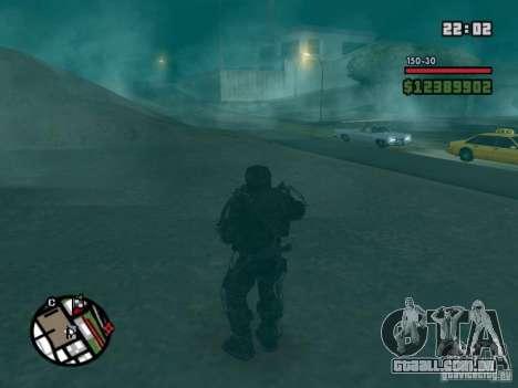 Perseguidor militar em èkzoskelete para GTA San Andreas terceira tela