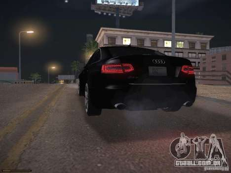 Audi RS6 2009 para GTA San Andreas vista inferior